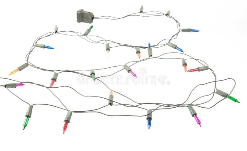Lumières de Noël embrouillées photos libres de droits