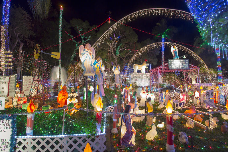 Lumières de Noël exagérées photos stock
