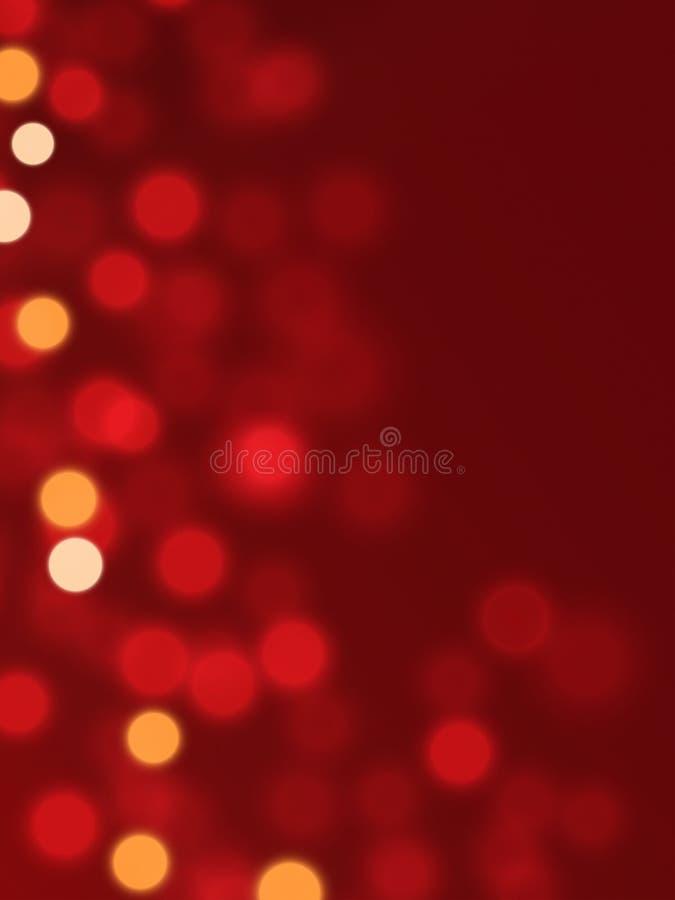 Lumières de Noël troubles illustration stock