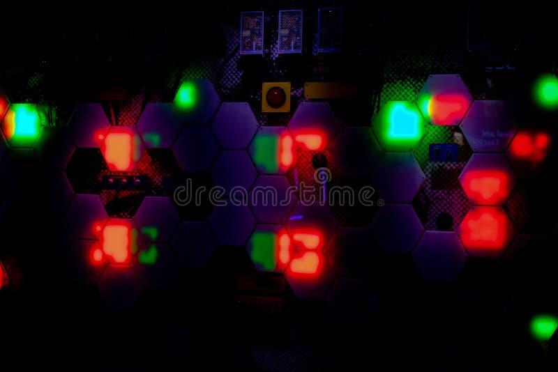 Lumières de nuit à Las Vegas images stock