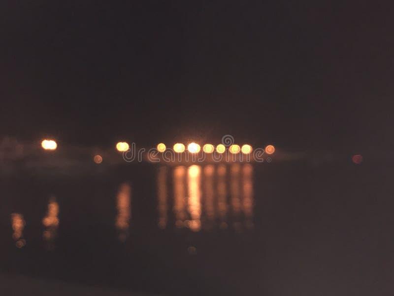 Lumières de nuit de Bokeh image stock