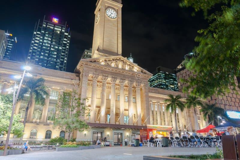 Lumières de nuit de Brisbane images libres de droits