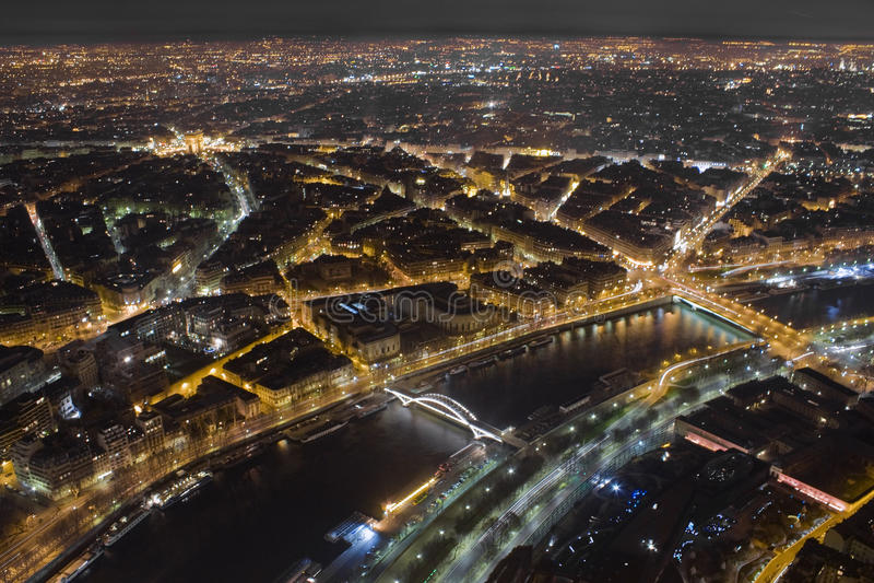 Lumières de Paris image libre de droits