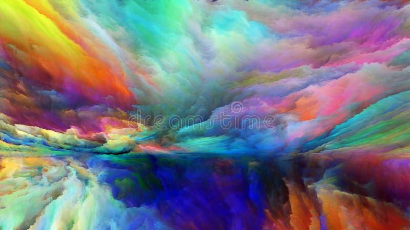 Lumières de paysage abstrait illustration de vecteur