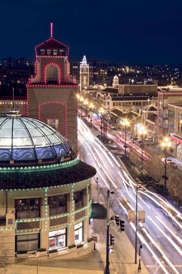 Lumières de plaza de Kansas City photos stock