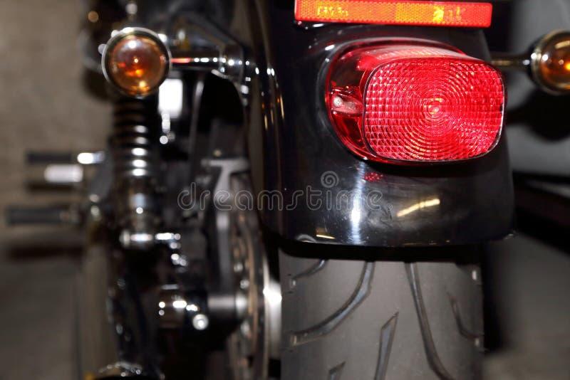 Lumières de queue de moto image libre de droits
