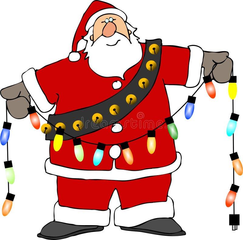 Lumières de Santa illustration libre de droits