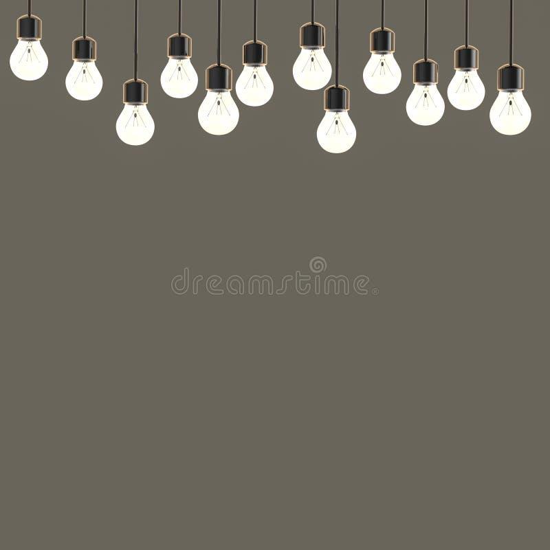 Lumières de scintillement sur le fond gris vide images libres de droits