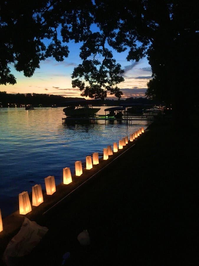 Lumières de soirée photos stock