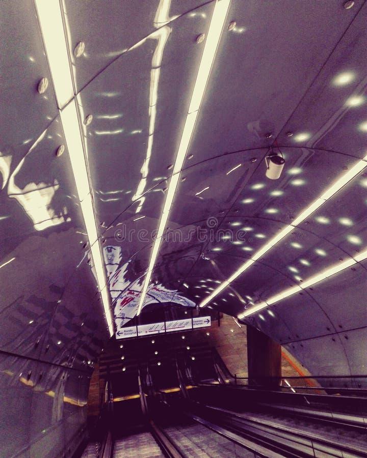 Lumières de souterrain images stock