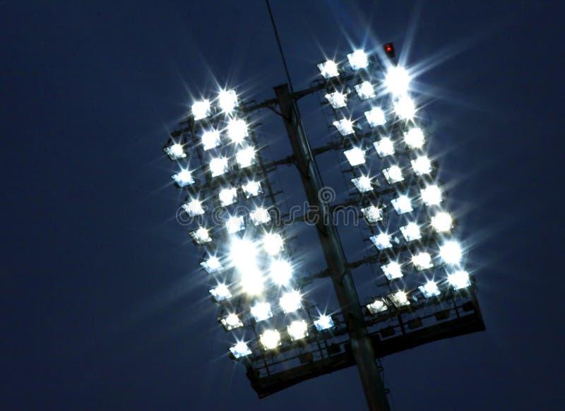 Lumières de stade image stock