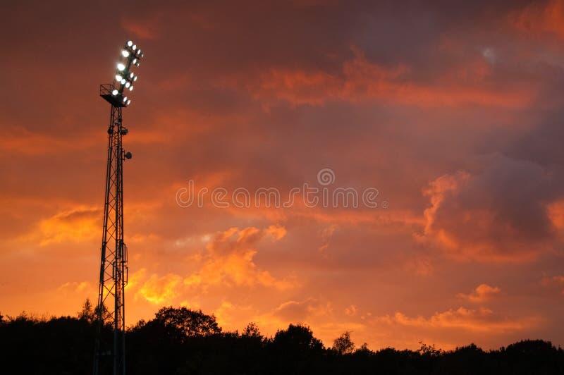 Lumières de stade photographie stock libre de droits