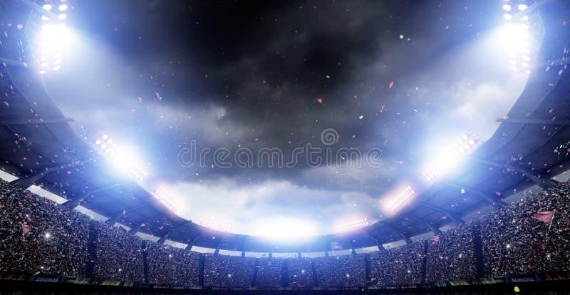 Lumières de stade, rendu 3d illustration de vecteur