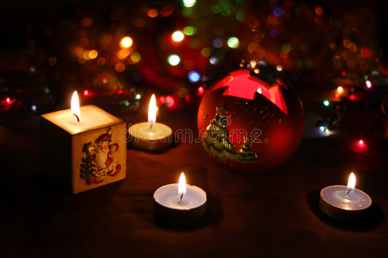 lumières de vacances images stock