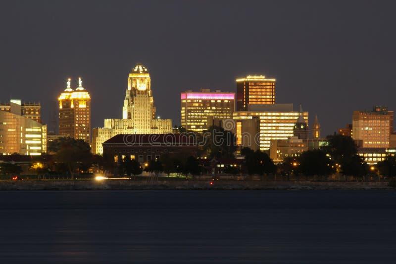 Lumières de ville de Buffalo, New York photo libre de droits
