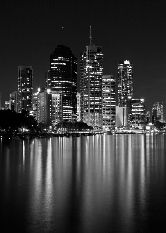 Lumières de ville - noir et blanc photo libre de droits