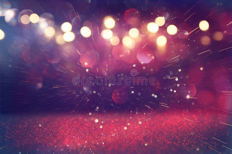 lumières de vintage de scintillement de pourpre et de rose photo stock