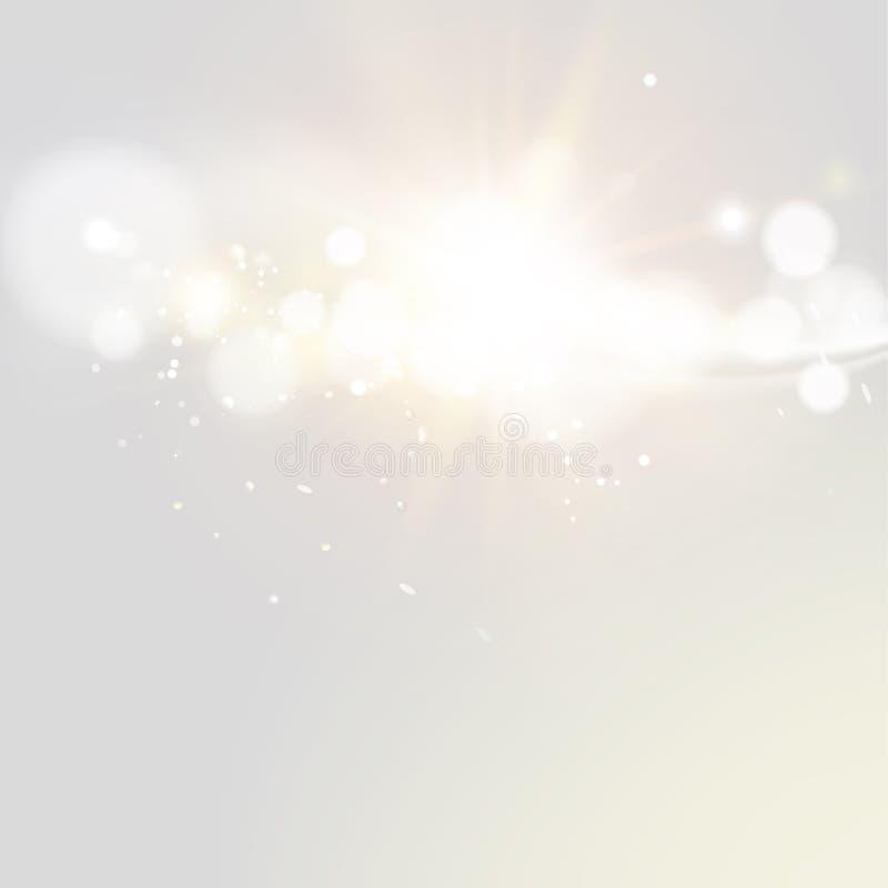 Lumières de vintage de scintillement illustration de vecteur