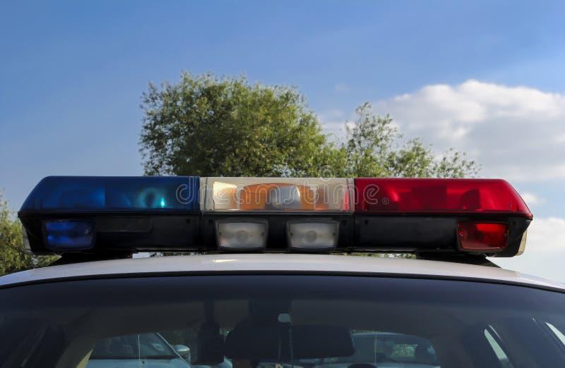 Lumières de voiture de police images libres de droits