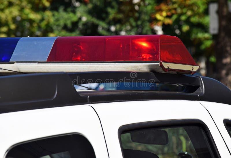 Lumières de voiture de police image libre de droits
