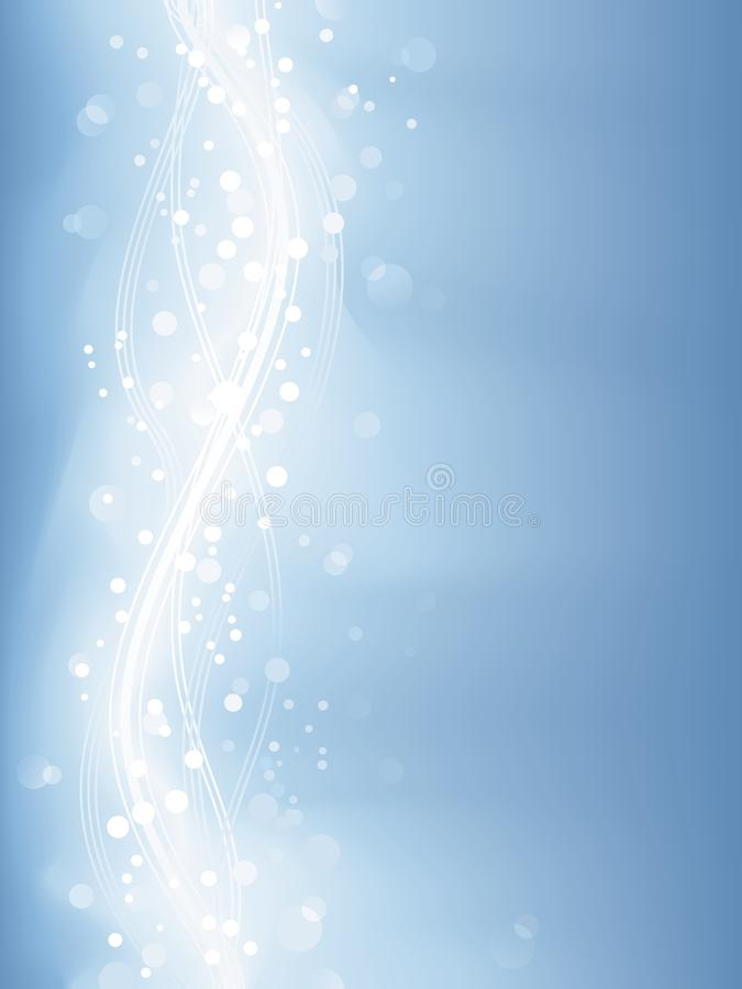 Lumières defocused bleu-clair, points légers illustration stock