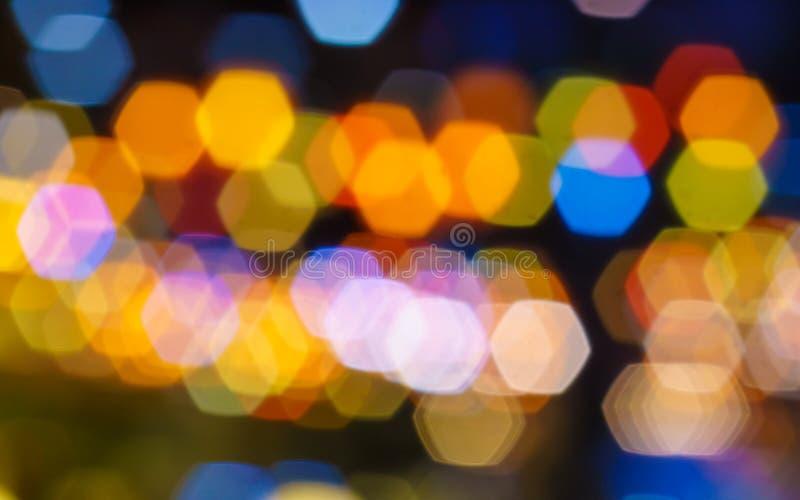 Lumières Defocused brouillées colorées de Bokeh photos stock
