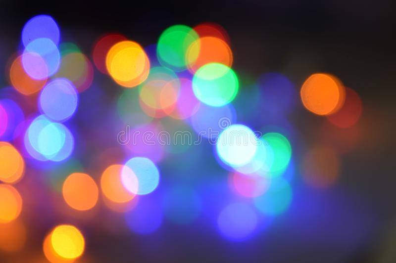 Lumières defocused colorées de bokeh photos stock