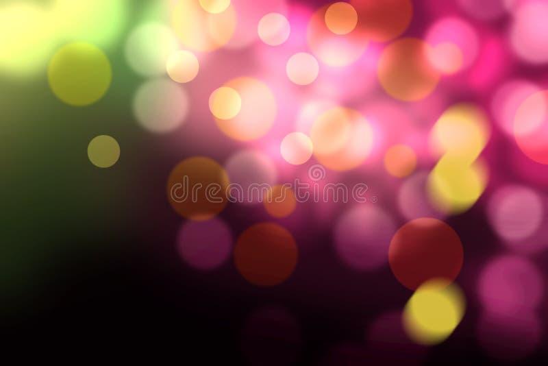 lumières defocused d'image de Noël d'ampoules de fond photographie stock libre de droits