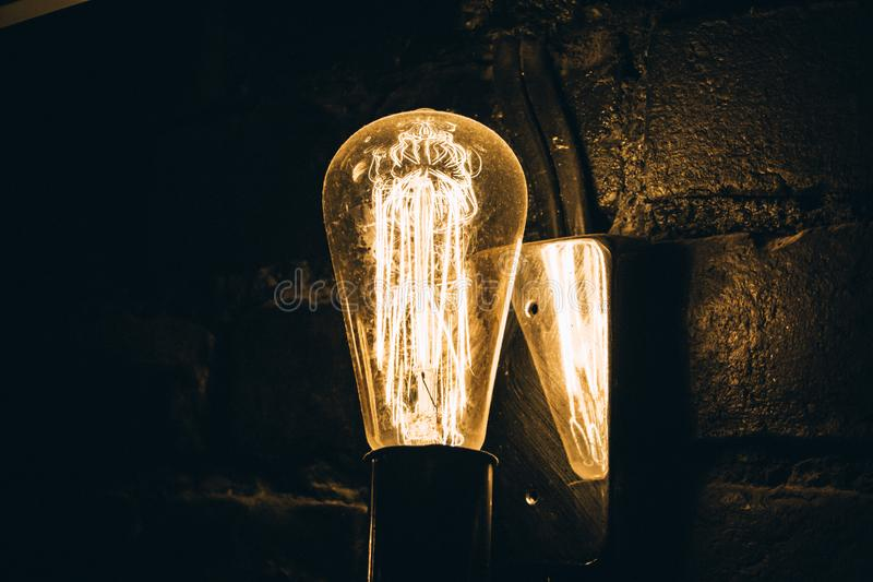 Lumières du centre ville images libres de droits