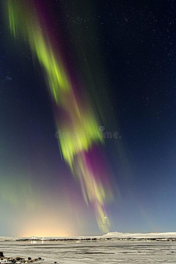 Lumières du nord Þingvellir II photo libre de droits