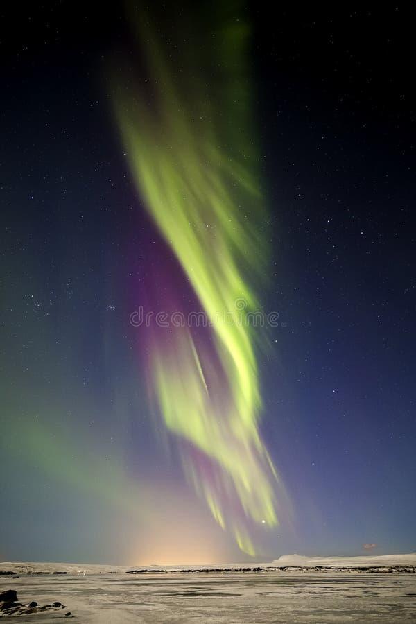 Lumières du nord Þingvellir VI photographie stock libre de droits