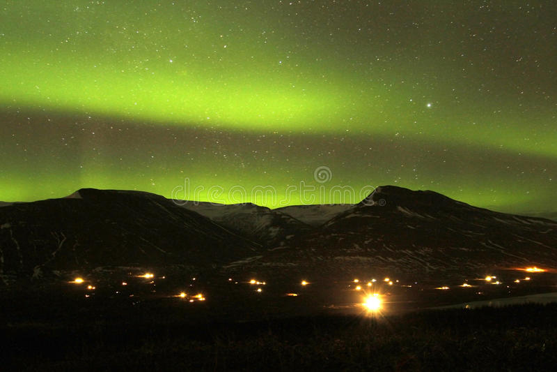 Lumières du nord photos stock