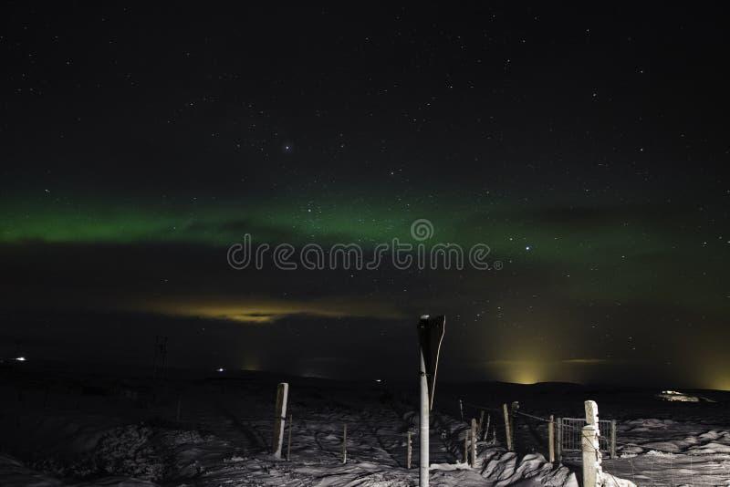 Lumières du nord de l'Islande photographie stock libre de droits