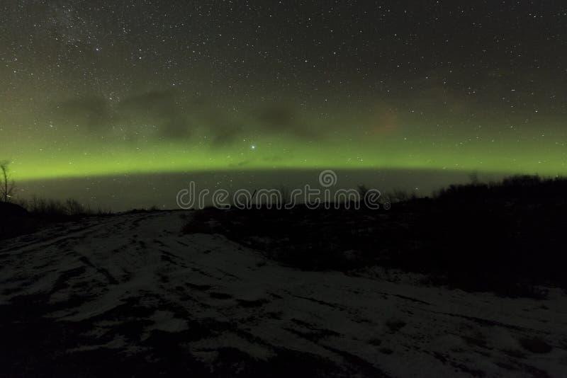 Lumières du nord Islande image libre de droits