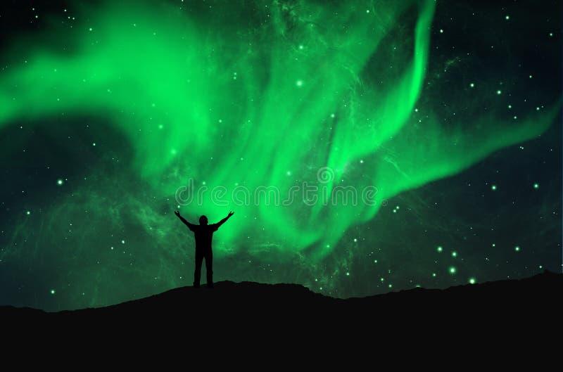 Lumières du nord, l'aurore illustration libre de droits