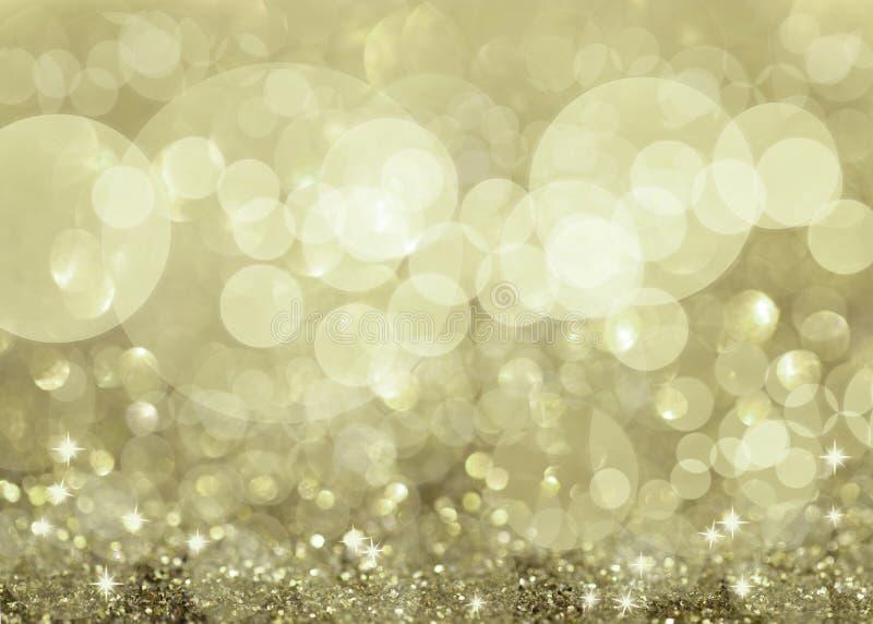 Lumières et étoiles argentées Twinkly illustration stock