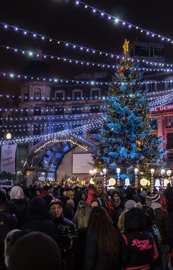 Lumières et décorations de Noël photographie stock libre de droits