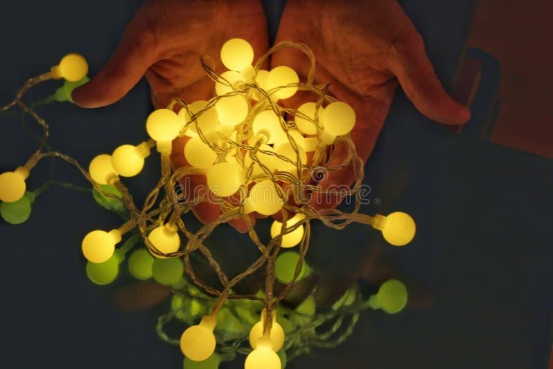Lumières et verre colorés image stock