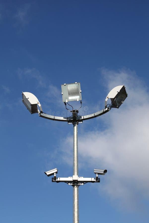 Lumières et vidéos surveillance de garantie image stock