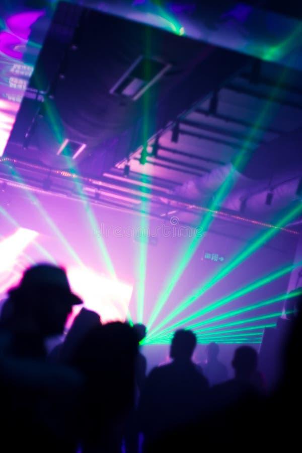 Lumières lasers de disco photographie stock