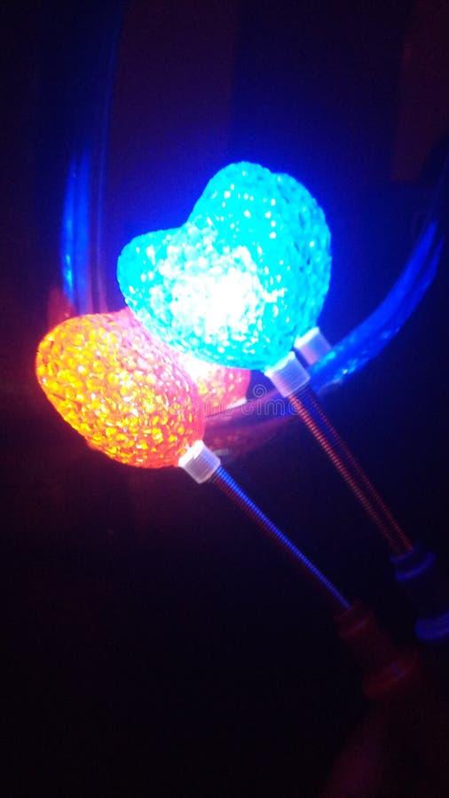 Lumières lumineuses de coeur images libres de droits