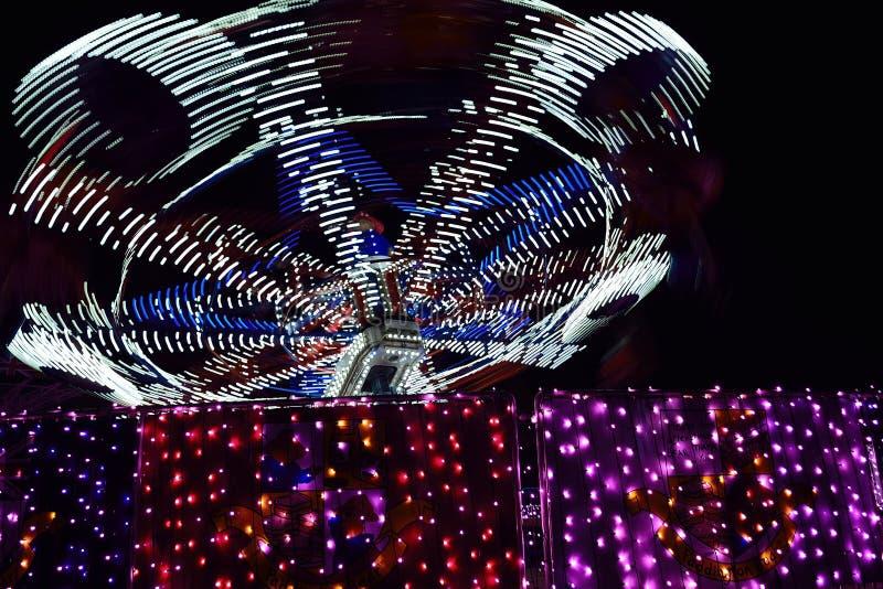 Lumières mobiles de carnaval photo stock