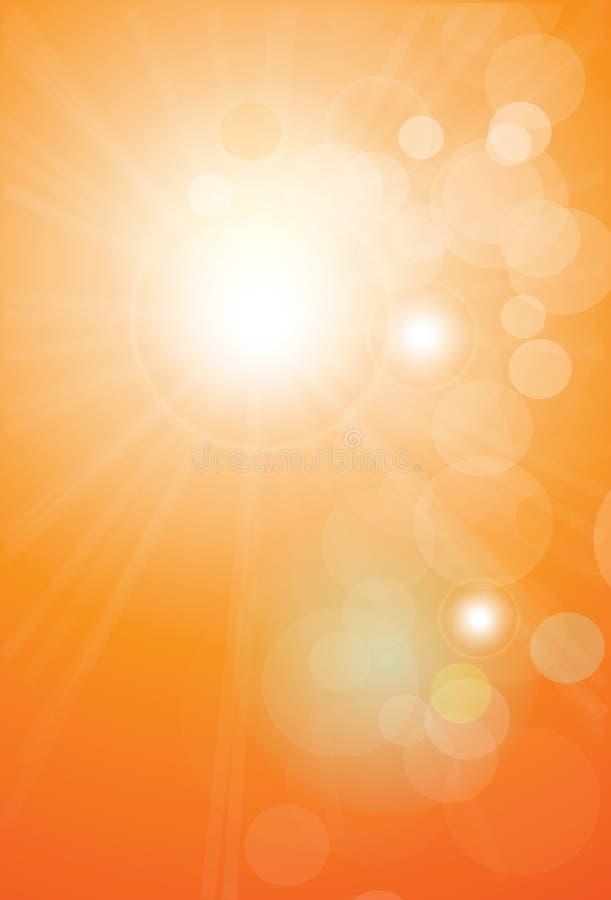 Lumières oranges de fond abstrait illustration de vecteur