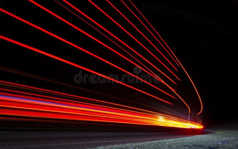Lumières oranges, rouges et jaunes abstraites photographie stock libre de droits