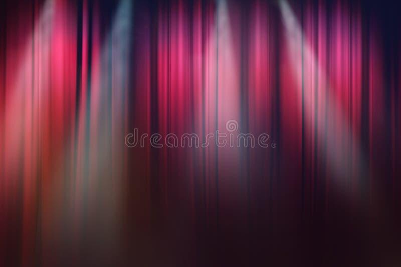 Lumières sur l'étape, fond d'exposition de théâtre de drame image libre de droits