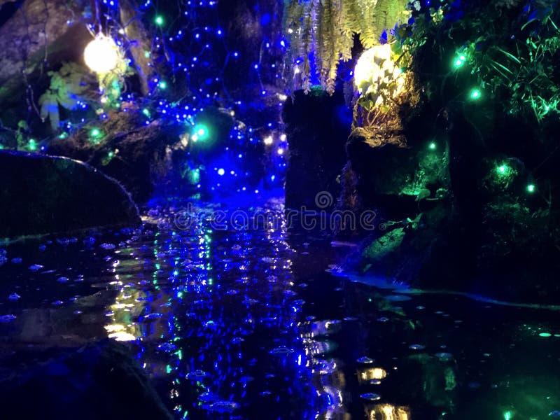 Lumières sur l'eau photo libre de droits