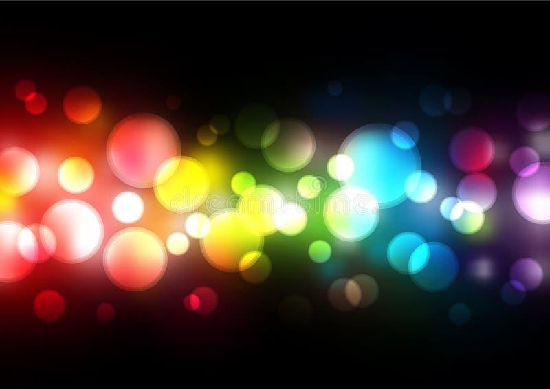Lumières troubles de vecteur illustration de vecteur