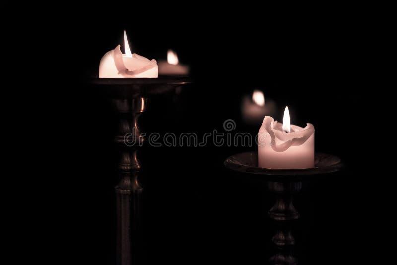 Lumi di candela antichi fotografie stock libere da diritti