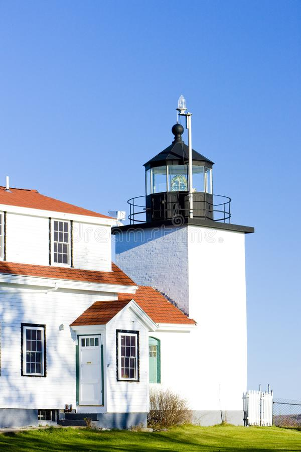 Lumi?re de point de fort de phare, sources de Stockton, Maine, Etats-Unis image libre de droits