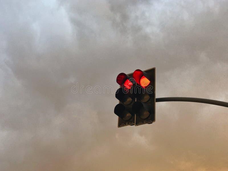 Lumi?re rouge photos libres de droits